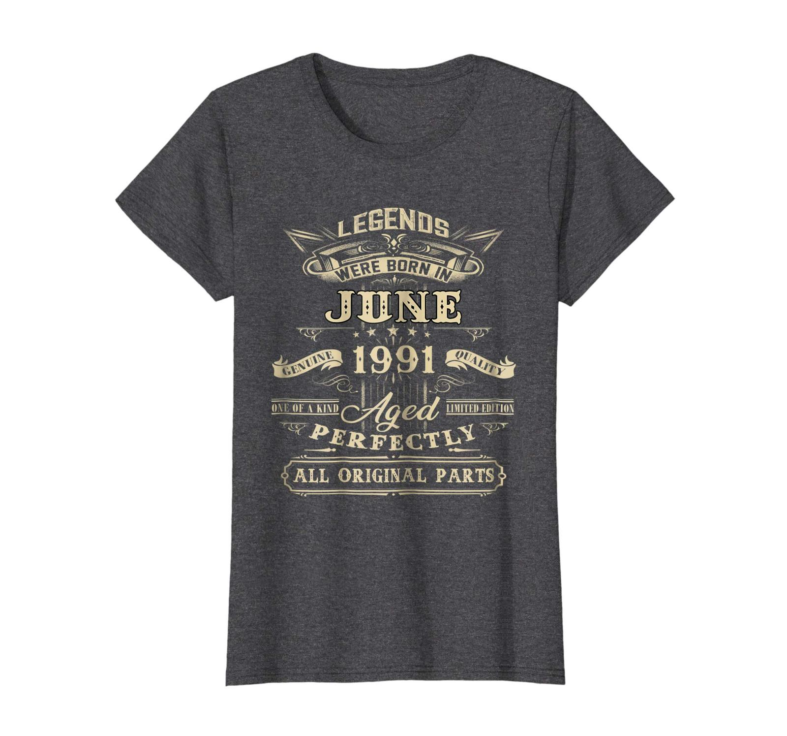 Primary image for Dad Shirts - Vintage Legend Est June 1991 27th Years Old Birthday Shirt Wowen