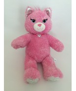 """BUILD A BEAR Purrincess pink sparkly PRINCESS KITTY CAT W/ NECKLACE 16"""" ... - $13.09"""