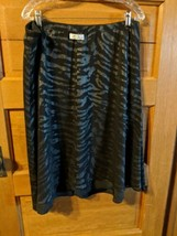 CJ Christopher Banks Womens Modest Reversible Skirt Black Silver Size XL... - $18.98