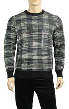 NEW MENS TOMMY HILFIGER CREW NECK PLAIDS GREY PULLOVER SWEATER $99 - $34.99