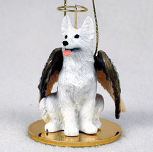 GERMAN SHEPHERD (WHITE) ANGEL DOG CHRISTMAS ORNAMENT HOLIDAY Figurine Me... - $14.99