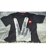 Nike Air Tee Shirt Victory Sign Second Place For Losers Size S - $22.67