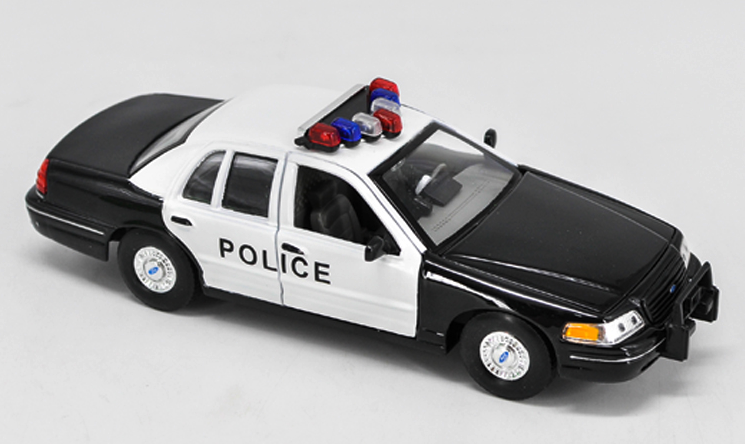 WELLY FX 1/24 alloy model,1999 Ford crown Victoria collect gifts door can open