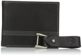 Timberland Men's Leather Slimfold Wallet Key Fob Gift Set Black NP0366/08 image 2