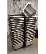 33 Steam buffet Table Pan 7 x 6-3/8 x 4 deep Stainless Steel half third ... - $163.35