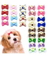 MEWTOGO 30 Pcs/15 Pairs Pet Hair Bows With Rubber Bands-Dog Hair Accesso... - $24.14