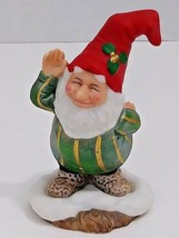 "Fitz & Floyd Holiday Hamlet ""Waving Elf"" 1993 - 2 1/2"" - Sri Lanka - $9.49"