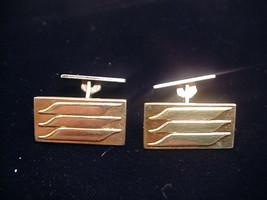 835 Silver Cufflinks DUTCH Gold Plated Vintage Pivot Head Makers Mark HH - $34.65