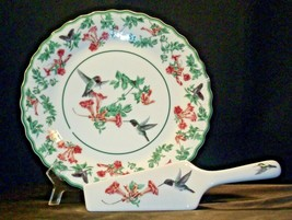Porcelain National Wildlife Federation Hummingbird Platter & Server Andrea by Sa image 2