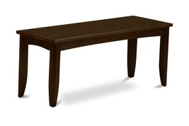 East West Furniture PFB-CAP-W Dining Bench with Wood Seat, Cappuccino Fi... - $131.75