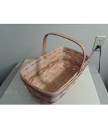 LONGABERGER  1986 Medium Chore Vintage Basket Natural Stain W Lt Brown A... - $29.65