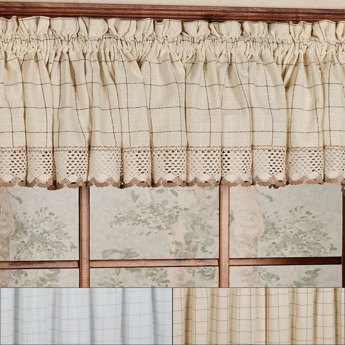 "Primary image for Adirondack Cotton Kitchen Window Curtains - 12"" x 60"" Valance"