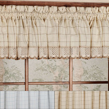 "Adirondack Cotton Kitchen Window Curtains - 12"" x 60"" Valance - $12.99"