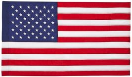 3x5 United States Embroidered Sewn Flag 3'x5' House Banner Pole Sleeve 210 Nylon - $42.00