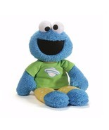 "Gund Sesame Street 16"" Plush COOKIE MONSTER PAJAMA PAL Glow In The Dark ... - £17.19 GBP"