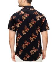 Men's Cotton Short Sleeve Casual Button Down Floral Pattern Dress Shirt image 9