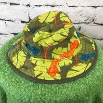 Gymboree Boys Sz 3-4 Hat Green Jungle Safari Lizard Leaf Camo Bucket Cap - $14.84