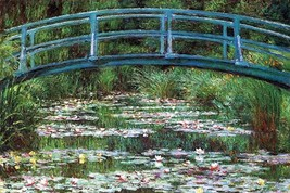 Japanese Footbridge by Claude Monet - Art Print - $19.99+