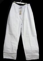 Scrub Pants Expo White 3XL Elastic Drawstring Uniform Bottoms Cargo 115 New - $13.55
