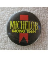"""1980s Rock and Roll Pin Back Button Michelop Racing Team Red Ribbon 1 1/4"""" - $9.90"""