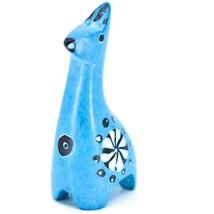 Tabaka Chigware Hand Carved Kisii Soapstone Miniature Sky Blue Giraffe Figurine image 2