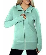 Kirkland Signature Ladies Hooded French Terry Jacket (X-Large, Mint) - $39.99