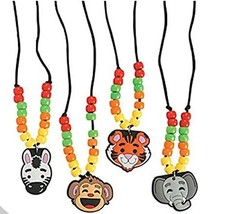 12 animal necklace craft kits - $16.13