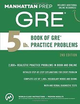 5 lb. Book of GRE Practice Problems (Manhattan Prep 5 lb Series) Manhatt... - $14.64
