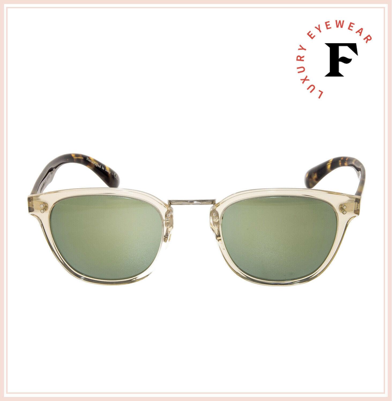 Oliver Peoples LERNER Retro Sunglasses OV5369S Buff Tortoise Green Mirror Unisex image 3