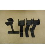 Heavy Duty Lot of 4 Brackets Black 1 3/4 in Jaw Concrete Embedded Metal - $25.12