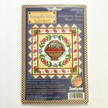 Simplicities by Janlynn Strawberry Basket Cross Stitch Kit Printed Mat S... - $4.95