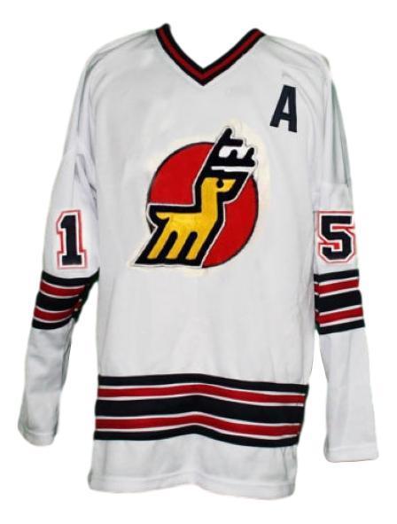 Custom name   michigan stags retro hockey jersey white   1