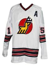 Custom Name # Michigan Stags Retro Hockey Jersey New White Curtis 15 Any Size image 1