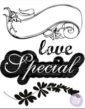 Rondelle Clear Stamp Set from Prima Marketing 559458 Special Love scrapb... - $1.99