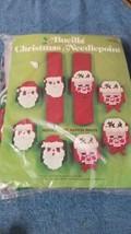 Bucilla Christmas Needlepoint Napkin Rings Kit Set of 8 #60388 NEW Santa... - $9.50