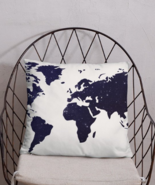 Basic Pillow world blue design with a sensitive touch - $32.00