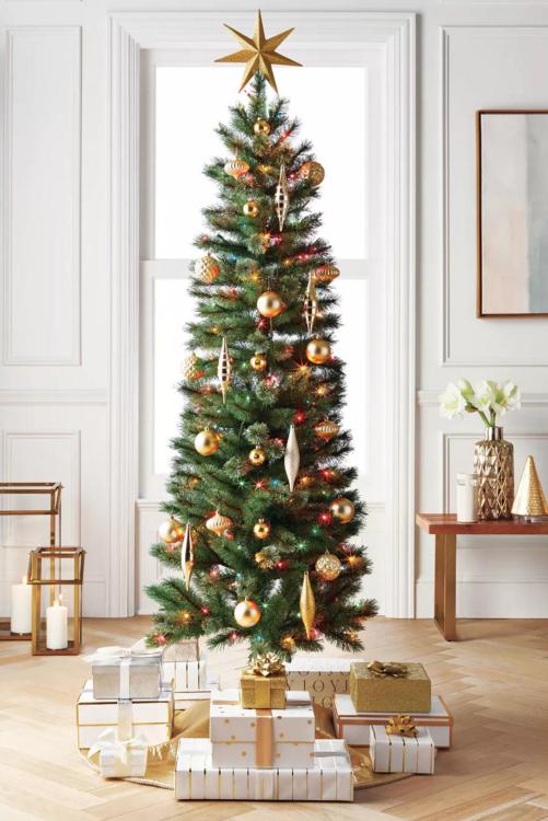6ft Pre-lit Artificial Christmas Tree Virginia Pine with Multicolored Lights NIB