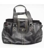 Coach Black Hampton F13961 Black Handbag Leather - $39.59
