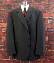 Lago Maggiore Men's 3 Button Sport Coat / Suit Jacket 46S Gray 97% Wool ... - $25.95