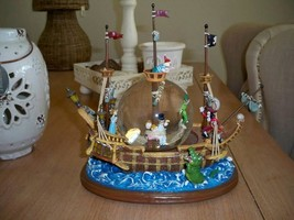 Extremely Rare! Walt Disney Peter Pan Captured by Captain Hook Snowglobe Statue - $425.00