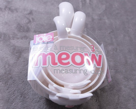 JOIE MEOW 3 Piece Stackable MEASURING CUPS White NWT NEW - £12.12 GBP