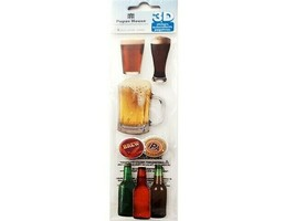 Paper House 3-D Stickers, Beverages #STEM-0015