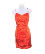 NEW guess sexy orange satin mini dress size large - $49.99