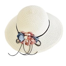 SAGACE hat Women Fashion Flower Wide Brimmed Floppy Foldable Summer Sun ... - $14.30