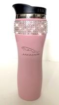 Jaguar 14oz Car Travel Mug Cup Tumbler W/ Swarovski Crystals Stainless BLACK - $27.71