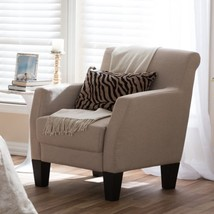 Baxton Studio Silhouettes Upholstered Modern Club Chair - $271.26