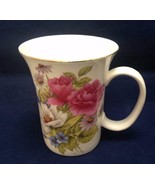 Mug Cup Gracie Bone China 9oz Floral Pink Graces Roses Coffee Tea - $14.85