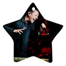 Memorabilia Linkin Park Chester Bennington Star Procelain Ornaments Chri... - $3.49