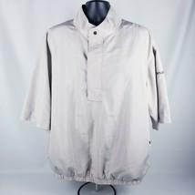 Dryjoys By Footjoy Beige Tan Pullover Short Sleeve Windbreaker Jacket Men's Xl - $34.64