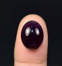 12.80 Cts. 100% Natural Amethyst Oval Cabochon 16*12*8.5 mm Loose Gemstone - $4.75